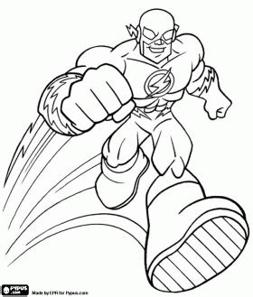 printable  flash superhero coloring pages