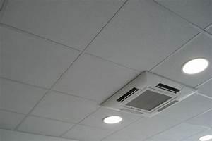 Faux plafond de bureau en dalles avec ou sans isolation sur ossature apparente ou cachée