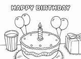 Birthday Coloring Happy Pages Printable Things Forkids sketch template