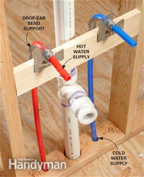 how to install pex pipe under sink pex piping everything you need to know the family handyman