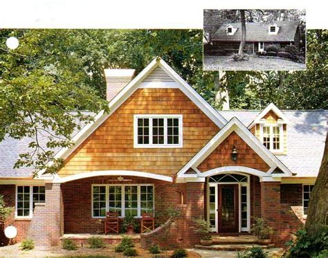 before and after brick ranch home exterior