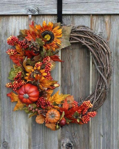 fall wreath  love thanksgiving pinterest fall door