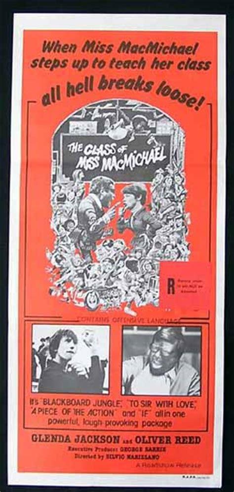 CLASS OF MISS MacMICHAEL Daybill Movie poster Glenda ...