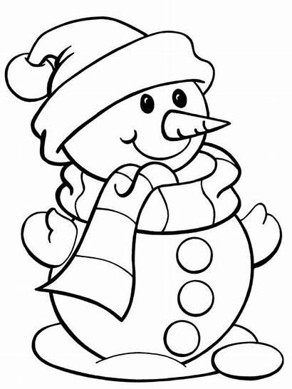 Coloring Christmas Snowman Mr