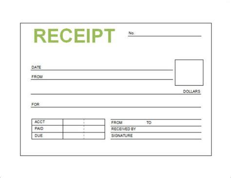 template  receipt  payment