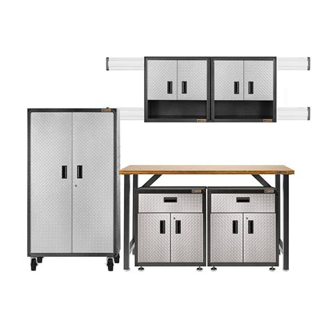 Gladiator Storage Cabinets Home Depot by Gladiator Ready To Assemble 66 In H X 103 In W X 20 In