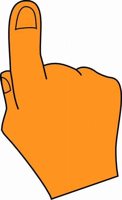 Finger Pointing Clipart Orange Clip Fingers Pointer