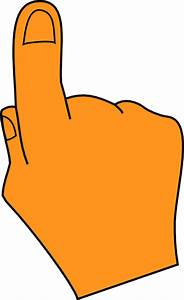 Pointing Finger Orange Clip Art at Clker.com - vector clip ...