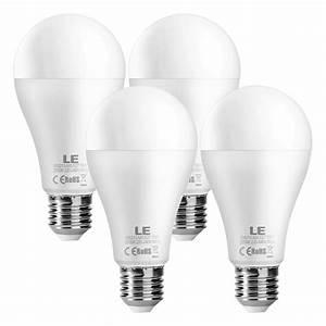 Energiesparlampen E27 100w : le 4er 15w superhell e27 led lampen ersetzt 100w gl hbirne a65 1500lm birnen warmwei 2700k ~ Pilothousefishingboats.com Haus und Dekorationen