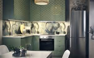 islands for kitchens with stools keep it clean in calming green ikea
