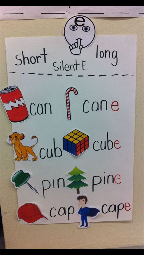 short vowels  silent  anchor charts project based