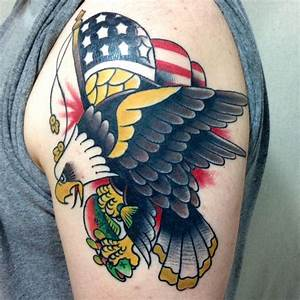 traditional american eagle tattoo images - Google Search ...