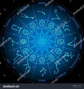 Astronomy Zodiac Circle Zodiac Signs Icon Stock Vector ...