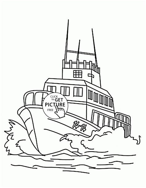 Big Boat Coloring Pages by Large Speed Boat Coloring Page For Transportation