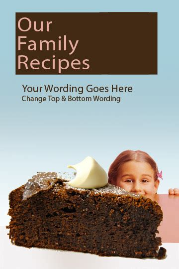 cookbook cover templates added creating  family