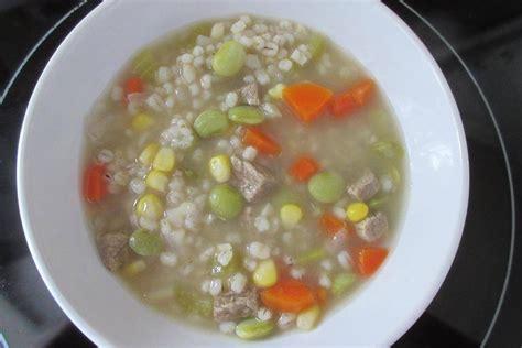 sodium beef barley soup skip  salt  sodium