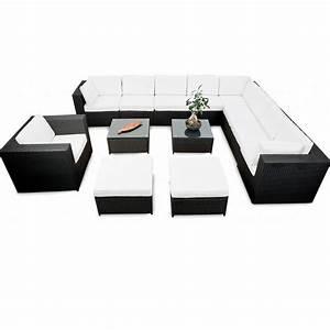 Lounge Set Günstig : modulares 38tlg xxl gartenm bel lounge set polyrattan anthrazit lounge m bel sets ~ Indierocktalk.com Haus und Dekorationen