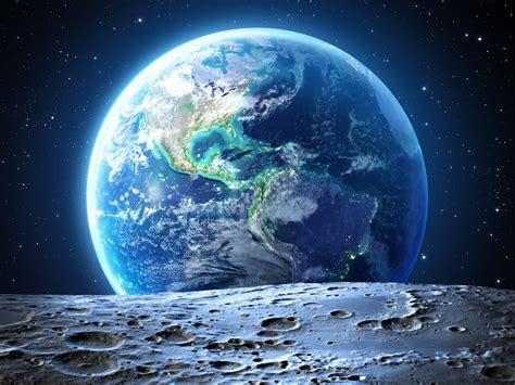 universe beautiful blue planet earth moon closeup preview