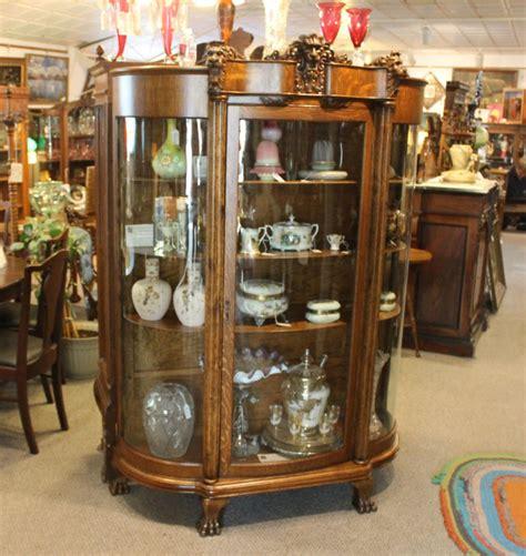 bargain johns antiques antique oak china curio cabinet