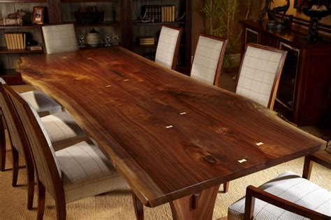 harden live edge solid wood table craftsman dining