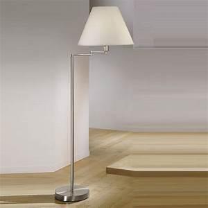 Lampe Mit Stoffschirm : kolarz stehlampe hilton mit stoffschirm 45 cm schwenkbar wohnlicht ~ Indierocktalk.com Haus und Dekorationen