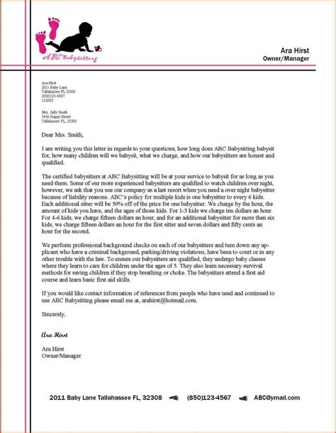 formal business letter block format  modified examples