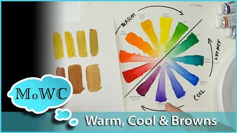 cool colors vs warm colors warm vs cool colors in watercolor mixing browns