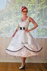 1950s pin up 39audrey39 wedding dress in a with polka dot With wedding pin up dresses