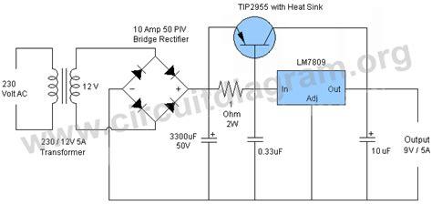 regulated power supply circuit diagram