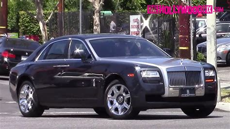 The Game Spotted Leaving Melrose Car Wash In His Rolls