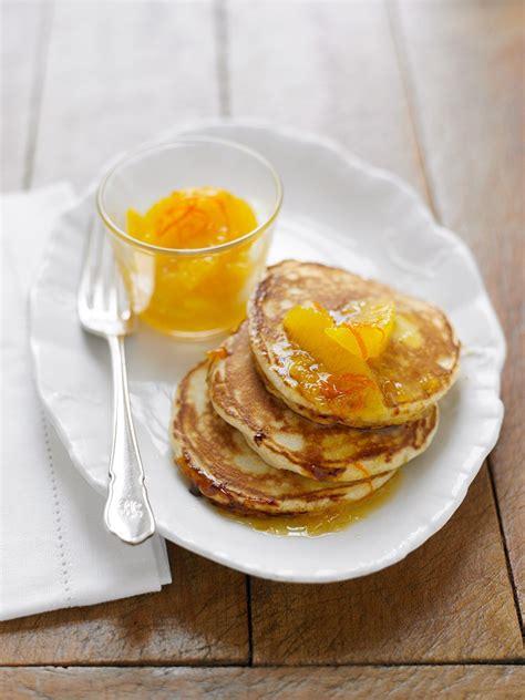 buttermilk pancakes  orange marmalade bonne maman