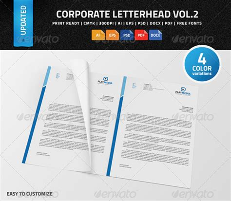 corporate letterhead psd ai eps