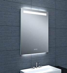 miroir retroeclaire tokyo l 60 cm envie de salle de bain With carrelage adhesif salle de bain avec led variateur intensité