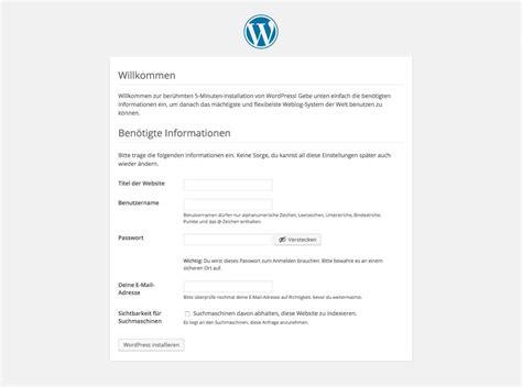 Ausführliche Anleitung Zur Installation Von Wordpress