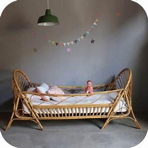 Lit Enfant Vintage : lit daybed enfant rotin vintage b428 ~ Teatrodelosmanantiales.com Idées de Décoration