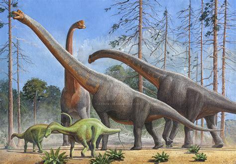 Giraffatitan And Dicraeosaurus By Atrox1 On Deviantart