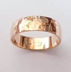 mens 6mm wedding band gold wedding band hammered wedding ring 6mm wide ring