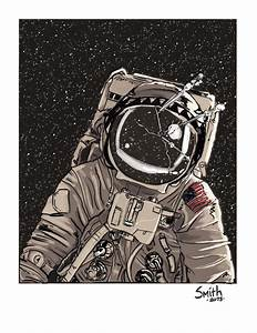 Astronaut Sketch (page 4) - Pics about space