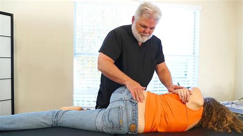 Chiropractic Adjustment for Low Back Pain & Leg Pain