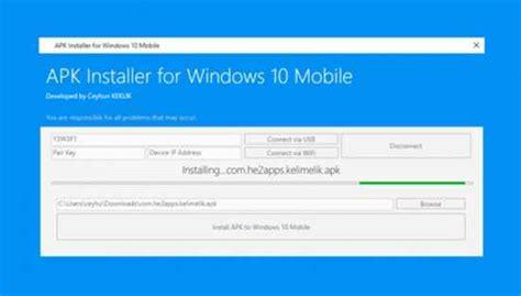 windows 10 mobile i 231 in apk d 246 n 252 şt 252 rme aracı apk installer for windows 10 mobile indir