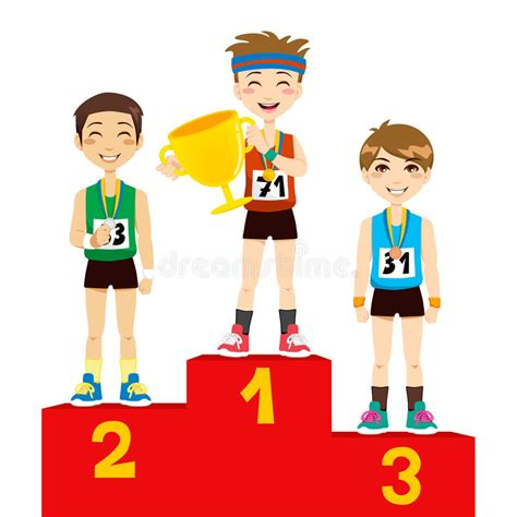 olympic winners stock vector illustration  challenge
