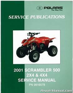 Used 2001 Polaris Scrambler 500 Atv Service Manual
