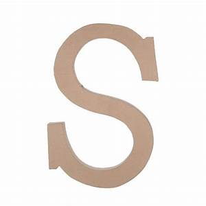 235quot paper mache letter s darice With darice paper mache letters 23 5