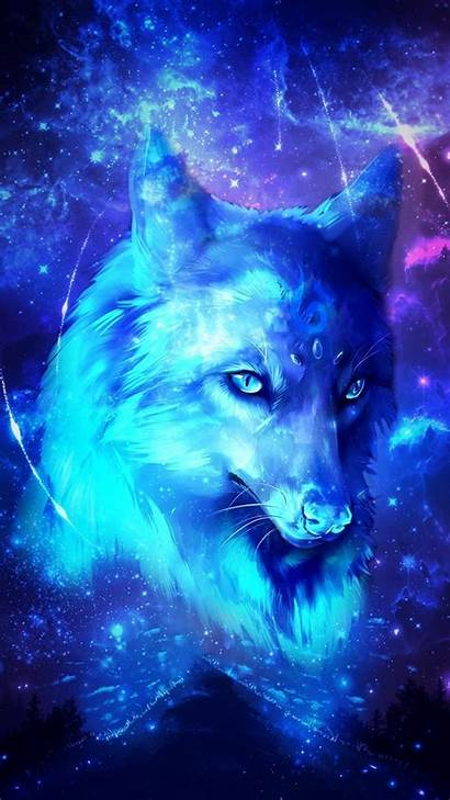 Wolf Galaxy Wolves Wallpapers Purple 3d Backgrounds