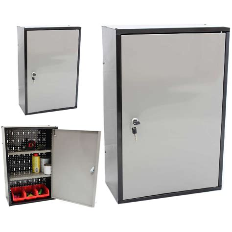 small metal storage cabinet silver color metal garage storage wall mounted cabinet for
