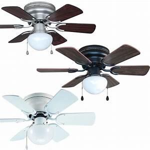 Inch flush mount hugger ceiling fan w light kit satin