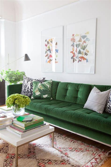 living room makeover  happy day green velvet sofa