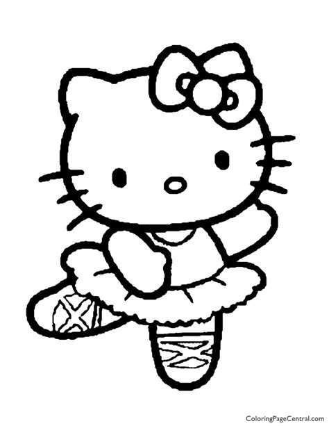Hello Kitty Coloring Page 01 Coloring Page Central