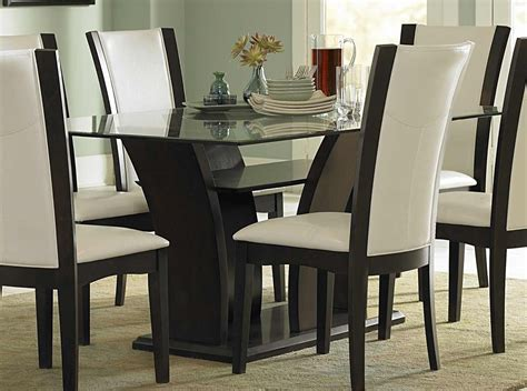 Attachment White Leather Dining Room Chairs (1221