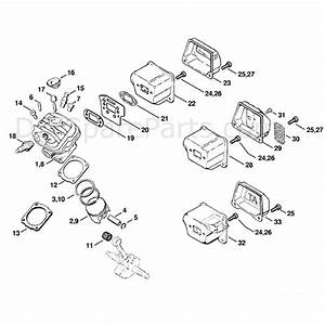 Stihl Ms 260 Chainsaw  Ms260 Farmboss  Parts Diagram  Cylinder